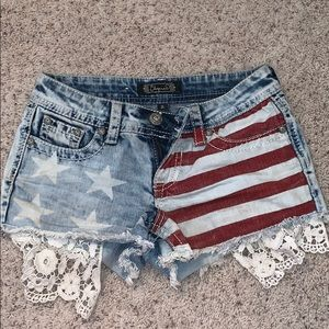Pants - Worn once adorable girls American flag shorts.